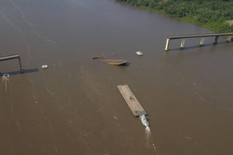 Balsa que derrubou ponte no Pará levava carga irregular de empresa da Vale