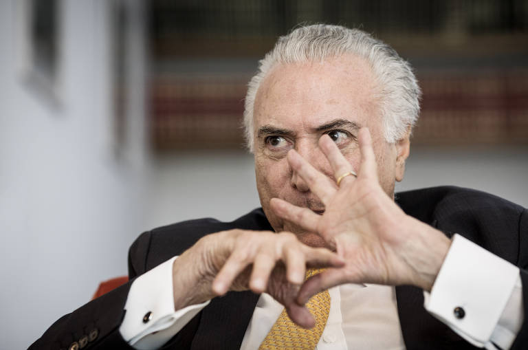 Michel Temer em entrevista à Folha
