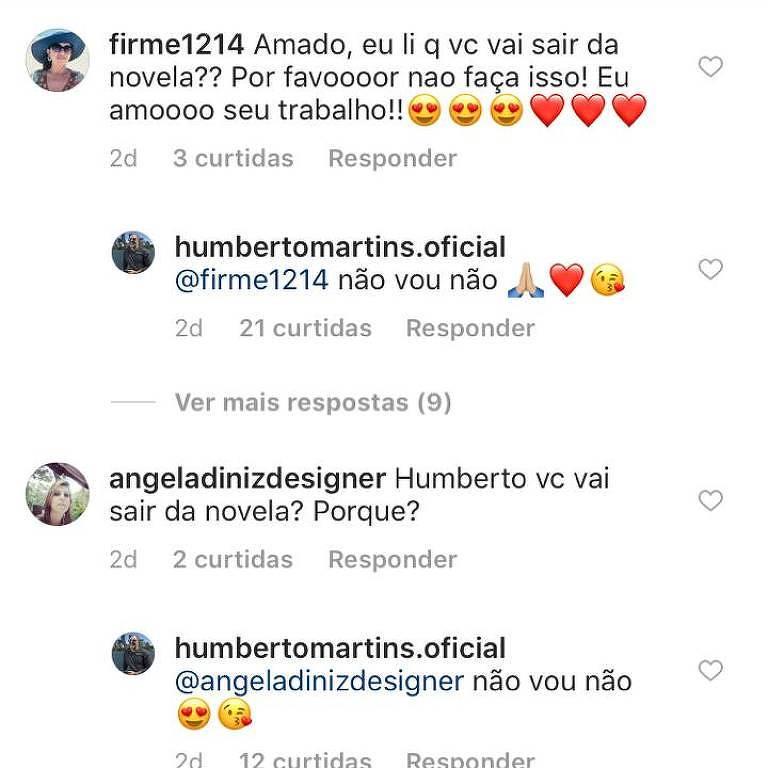 Humberto Martins nega saída da novela 'Verão 90'