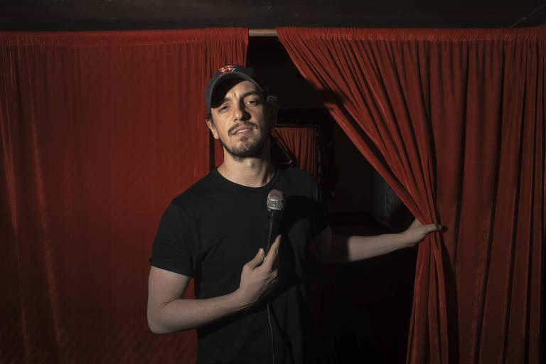 O comediante venezuelano Nacho Redondo na Cidade do México, onde vive após ter deixado seu país natal