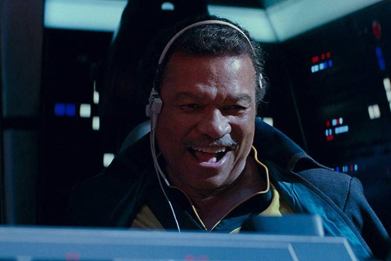 O personagem Lando Calrisian em 'Star Wars: A Ascensão Skywalker'
