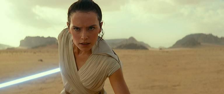 Daisy Ridley em cena do filme 'Star Wars: A Ascensão Skywalker'