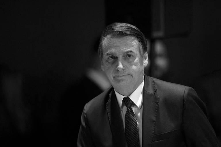 O presidente Jair Bolsonaro durante reunião com líderes evangélicos em hotel no Rio