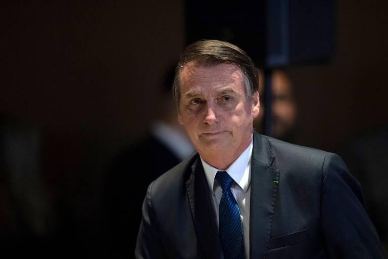 O presidente brasileiro, Jair Bolsonaro, durante encontro com líderes evangélicos no Rio de Janeiro