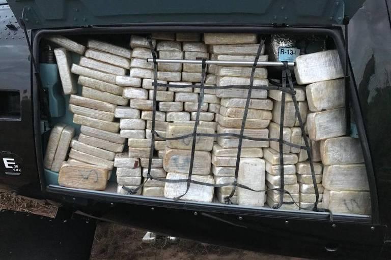 Meia tonelada de cocaína apreendida pela Polícia Federal em Presidente Prudente