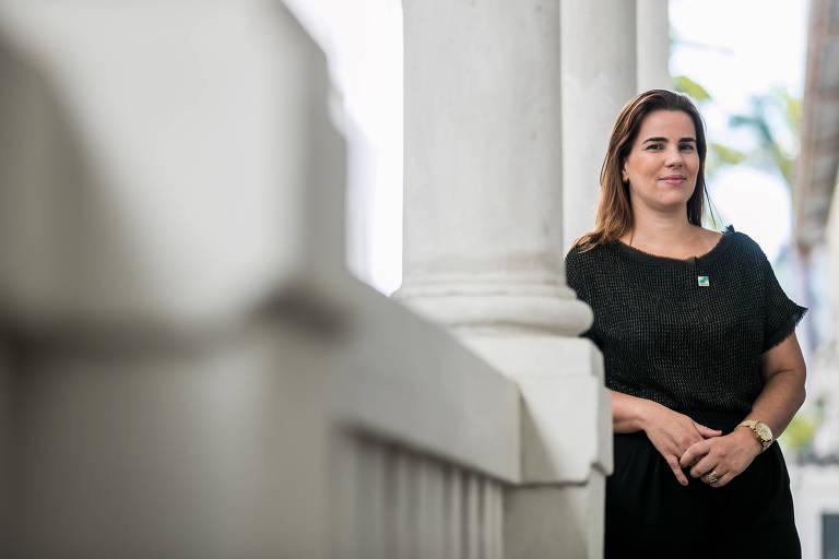 A secretária de Direitos Humanos do RJ, Fabiana Bentes