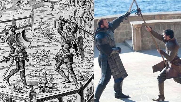 A luta entre Montanha e Oberyn Martell na série ilustra os julgamentos por combate de tempos medievais