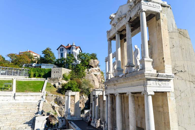 Teatro Romano em Plovdiv, na Bulgária