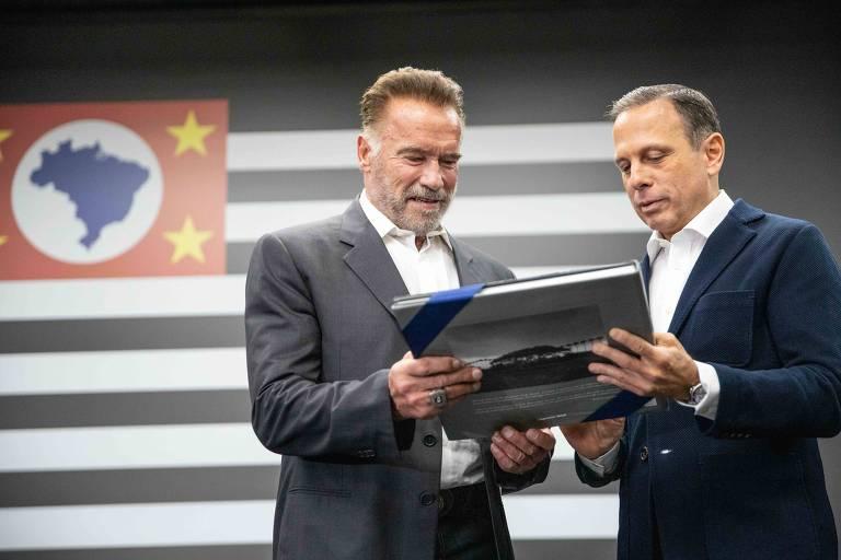 O Governador do Estado de São Paulo João Doria, recebeu o ator e ex-governador da Califórnia, Arnold Schwarzenegger, para discutir ações de sustentabilidade e economia verde.