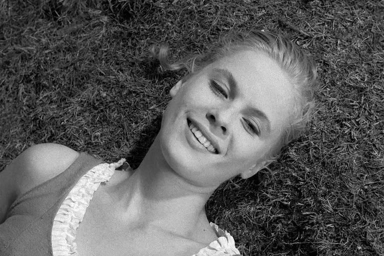 A atriz Bibi Andersson em 'O Sétimo Selo'