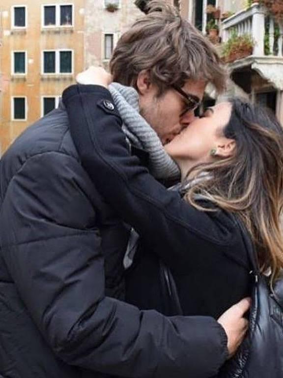 A apresentadora e atriz Tatá Werneck com o namorado, Rafael Vitti, em viagem por Veneza, na Itália