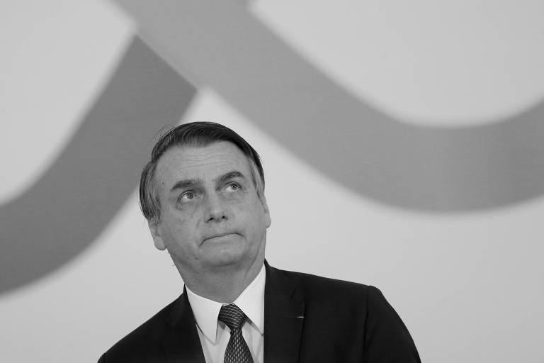 No Palácio do Planalto, Jair Bolsonaro participa de cerimônia realizada para marcar os cem primeiros dias do governo