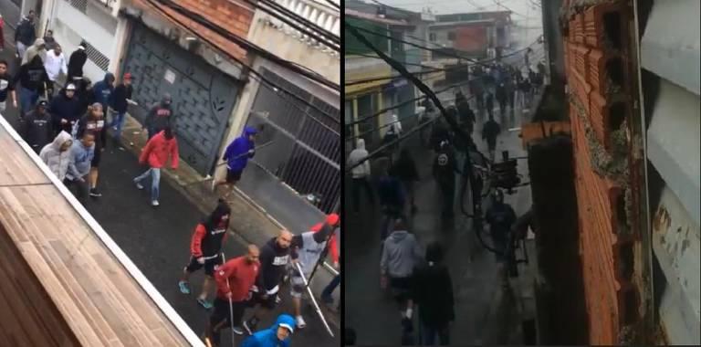 Briga entre torcedores do São Paulo e Corinthians