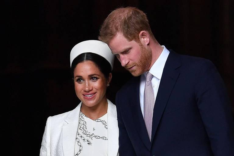 A Duquesa de Sussex Meghan Markle, e o Príncipe Harry