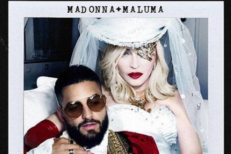 "Madonna, 60, anuncia parceria com o cantor colombiano Maluma, 25, na faixa ""Medellín"""