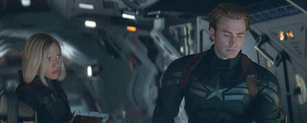 Scarlett Johansson e Chris Evans em cena de 'Vingadores: Ultimato' (2019)