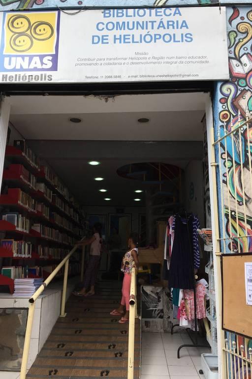 Biblioteca Comunitária de Heliópolis, localizada na zona sul de São Paulo, que foi o primeiro projeto a receber aporte por meio do Pro-Mac, a 'Lei Rouanet de SP'