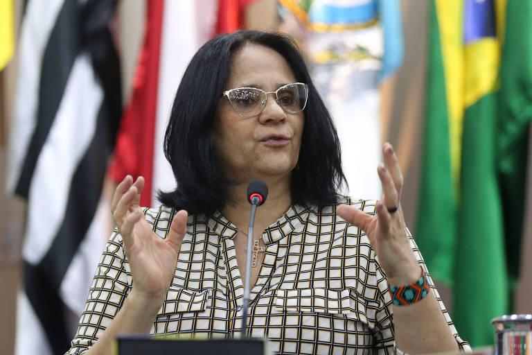 A ministra da Mulher, da Família e dos Direitos Humanos, Damares Alves, que deseja continuar com a Funai sob sua pasta