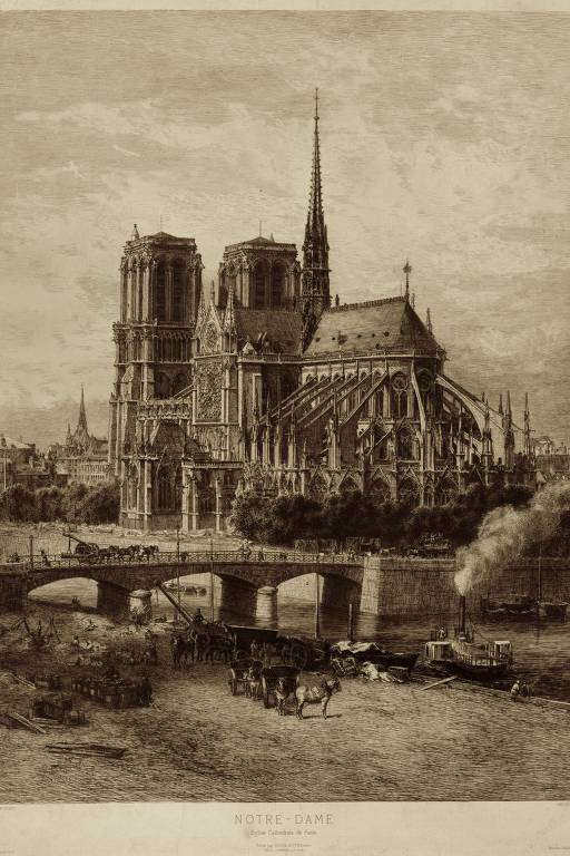Imagens históricas da catedral de Notre-Dame