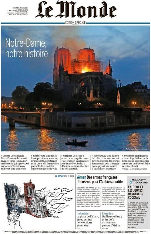 Notre-Dame na imprensa