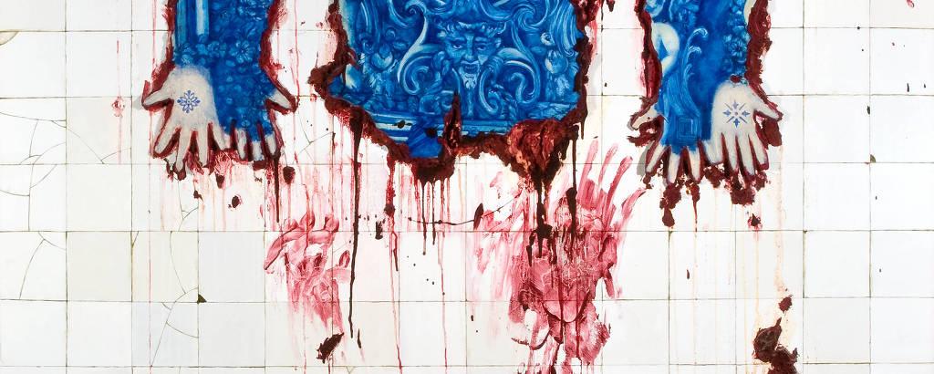 'Pele Tatuada à Moda de Azulejaria', obra de Adriana Varejão realizada em 1995