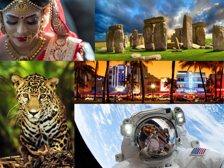 Montagem com cenas de programas do Smithsonian Channel.