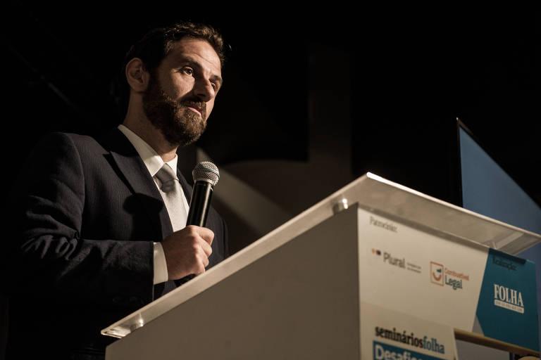 Caio Megale, secretário de Desenvolvimento da Indústria, Comércio, Serviços e Inovação, do Ministério da Economia, durante o seminário Oportunidades no Mercado de Combustíveis do Brasil