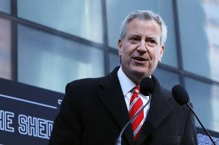 Mayor De Blasio Attends Dedication Of The Shed, A New Arts Center Opening In Manhattan