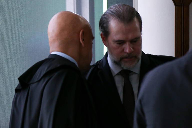 Os ministros Alexandre de Moraes e Dias Toffoli, do STF