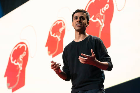 Arnav Kapur speaks  about AlterEgo during Fellows Session at TED2019: Bigger Than Us. April 15 - 19, 2019, Vancouver, BC, Canada. Photo: Ryan Lash / TED