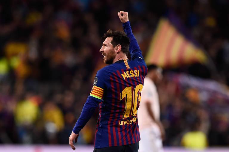 Com dois gols, Messi foi o grande destaque da classificação do Barcelona na Champions League