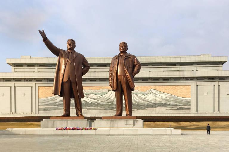 Silêncio de Pyongyang é quebrado por marchas e gritos noturnos
