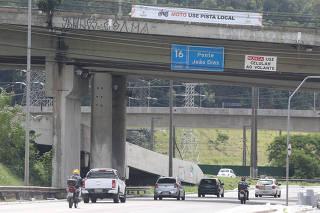 CET AVISA MOTOCICLISTAS A NAO USAREM A VIA EXPRESSA DA MARGINAL PINHEIROS