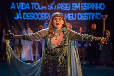 Nicole Puzzi em cena de 'Mississipi', dos Satyros ORG XMIT: Fotografia de Teatro