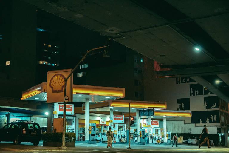 Postos de combustíveis na Barra Funda, região oeste de São Paulo