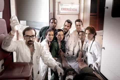 Terceira temporada de 'Sob Pressão' tem novidades no cenário e cenas de tirar o fôlego  Equipe médica do Hospital São Tomé Apóstolo, na terceira temporada de 'Sob Pressão'