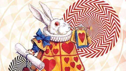 Ilustração feita para a edição especial pela Zahar da obra ?Alice no País das Maravilhas?, em comemoração dos 150 anos. A obra trará o livro ?Através do Espelho e o que Alice encontrou por lá?. As famosas ilustrações originais de John Tenniel foram revisitadas pela artista Adriana Peliano por meio de colagens criadas digitalmente, num convite ao sonho e ao nonsense. (Foto: Divulgação) ***DIREITOS RESERVADOS. NÃO PUBLICAR SEM AUTORIZAÇÃO DO DETENTOR DOS DIREITOS AUTORAIS E DE IMAGEM***