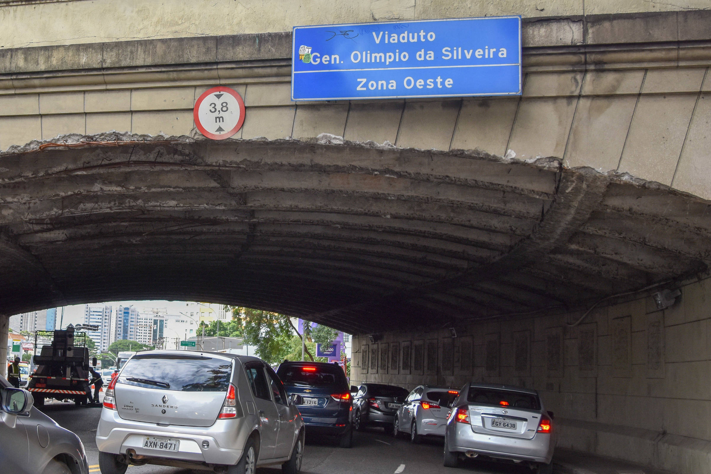 Gestão Covas veta caminhões no viaduto General Olímpio da Silveira