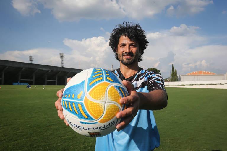 O meia Cristian, 39 anos, é um dos destaques do Santo André na Série A-2 do Campeonato Paulista
