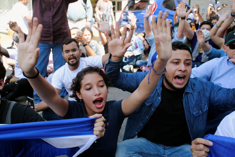 Protestos marcam o aniversário das manifestações contra Daniel Ortega