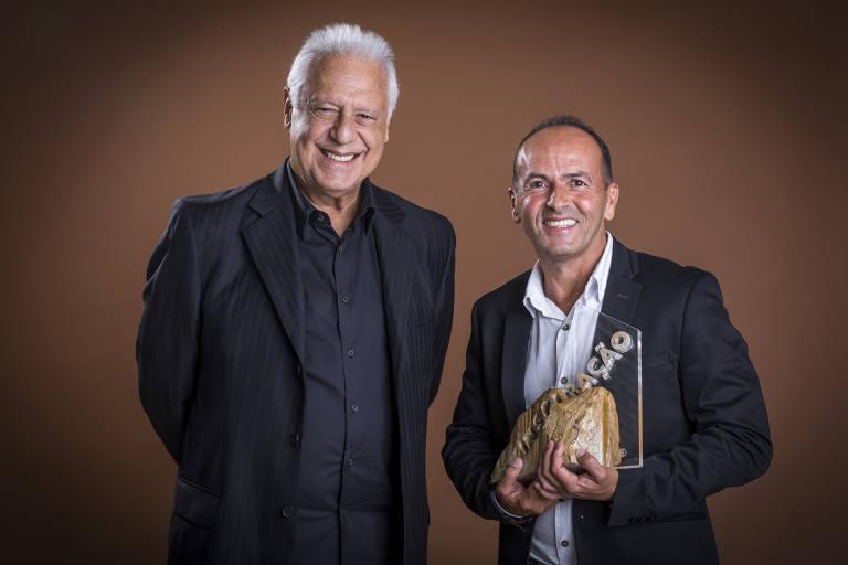 Empreendedor social da Rede Folha, Valdeci Ferreira foi apadrinhado por Antonio Fagundes no Especial Inspiração do Caldeirão do Huck