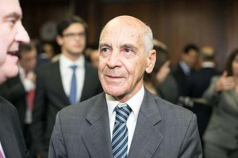 O desembargador aposentado Aloisio de Toledo Cesar, em 2015, então secretário de Justiça de SP