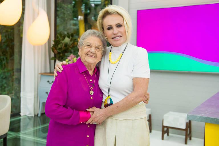 Ana Maria Braga e Palmirinha no programa Mais Você