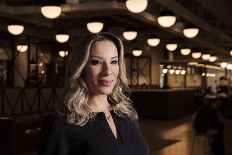 Gabryella Corrêa, criadora do aplicativo Lady Driver, no centro de São Paulo