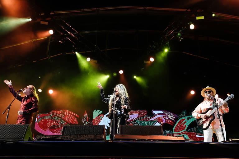"""Durante a apresentação do show """"Grande Encontro"""" com Elba Ramalho, Alceu valenca e Geraldo Azevedo no Rock in Rio 2017"""
