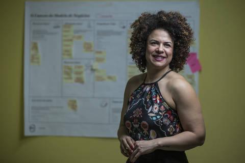 SÃO PAULO, SP, BRASIL. 15/04/2019. Virginia Dias, dona da Chocolife, que fez uma viagem de intercâmbio ao Vale do Silício para conhecer outras startups. (Foto:Jardiel Carvalho/Folhapress - SUP. ESPECIAIS) *EXCLUSIVO FOLHA