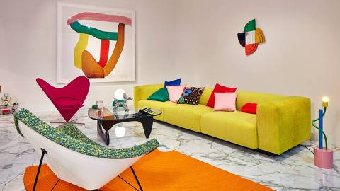 Salão do Móvel de Milão - ambiente criado pelo estúdio Vitra