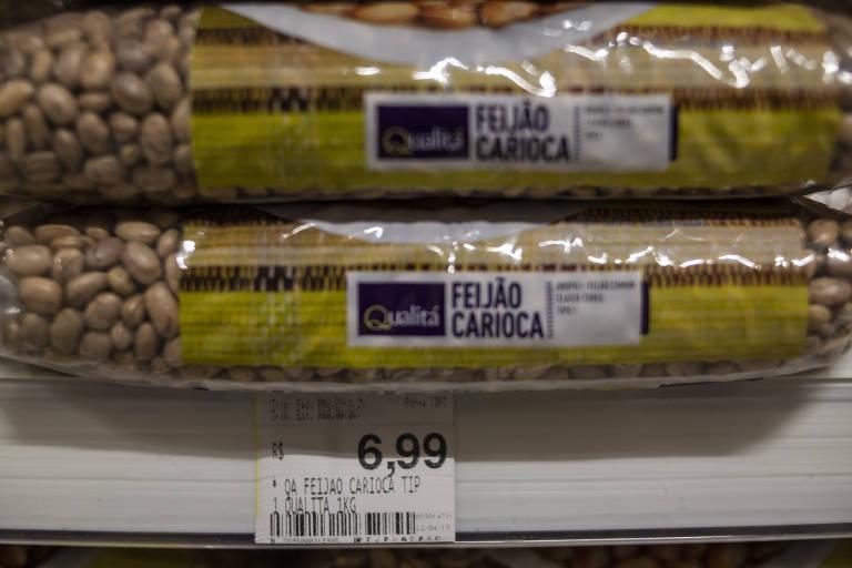 Oscilação no preço do feijão