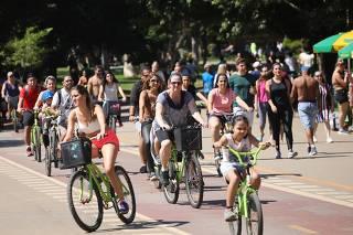 Movimentação no Parque Ibirapuera.