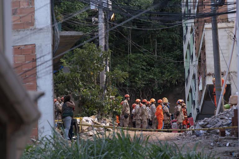 Prédios desabam no Rio de Janeiro